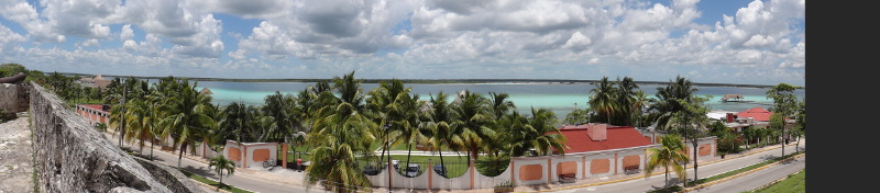 Panorama of the Lagoon from the wall of the fort.