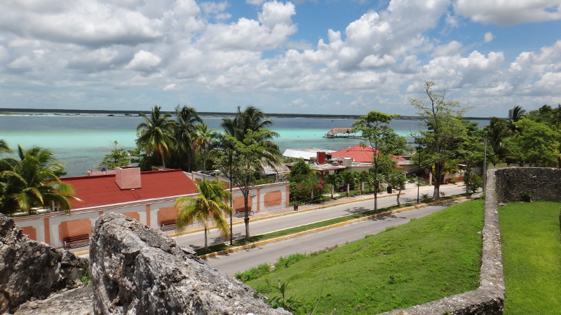 View of Bacalar Lagoon from fort walls