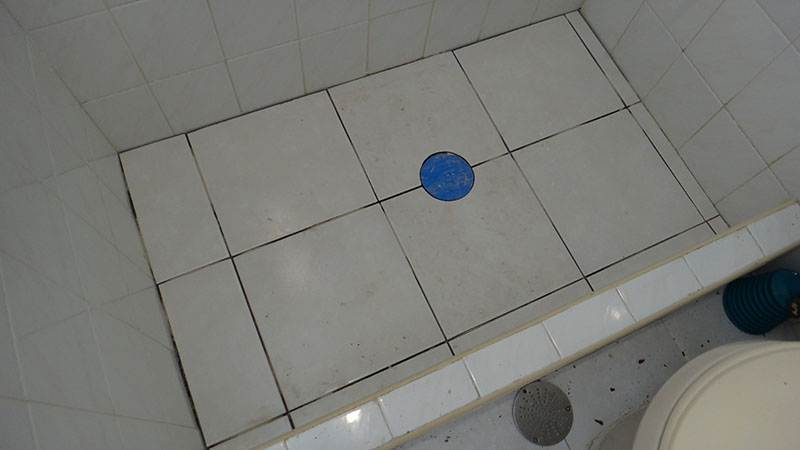 New tile and shower drains