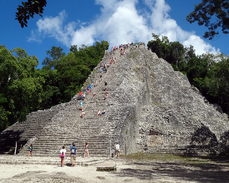 Nohoch Mul Pyramid - Tallest in the Yucatan