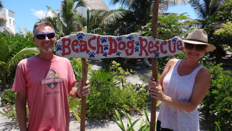 Heather and Gil from Costa Maya Beach Dog Rescue
