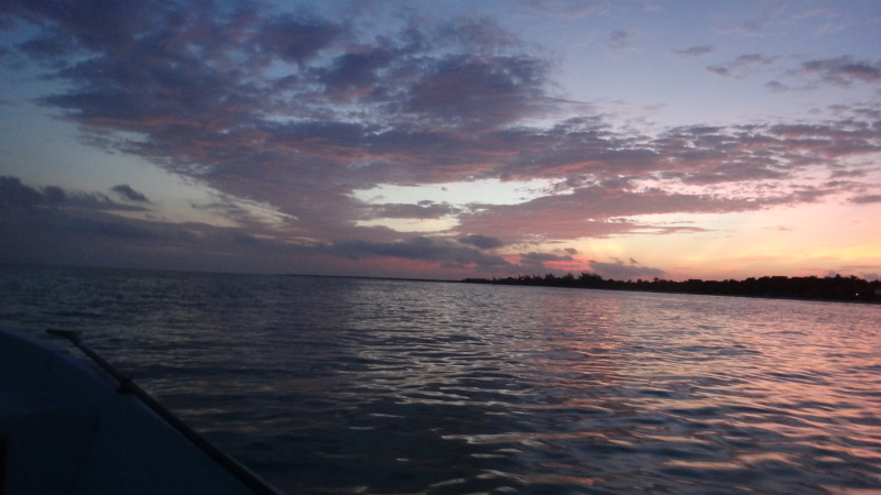 Leaving at sunrise, Isla Holbox
