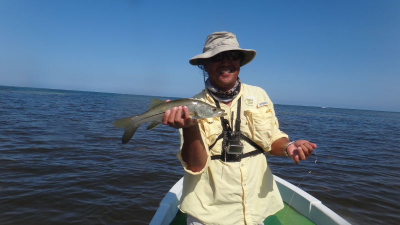 And a snook for the grand slam.