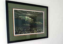"Mike Stidham ""Tarpon on the Flats"" in our Xcalak hotel's Sabalo Suite"