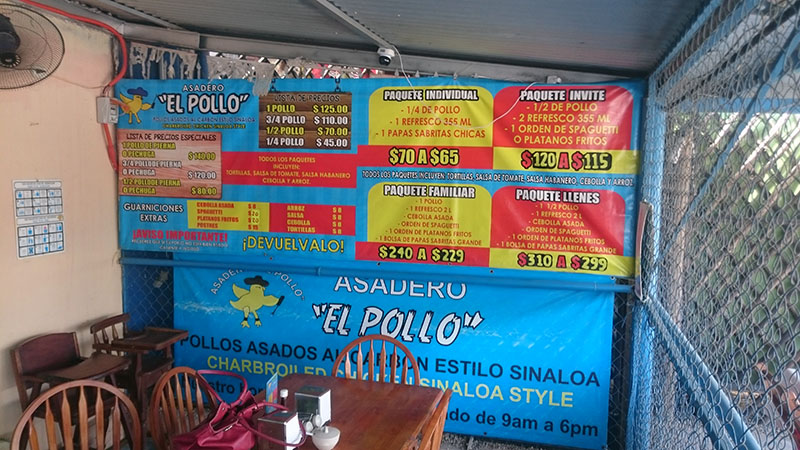 El Pollo Menu
