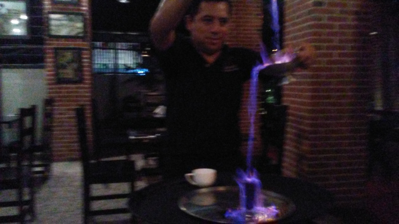 Flaming cocktail!