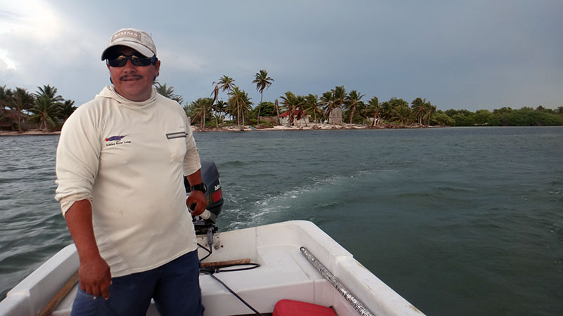 Capt. Jose in Xcalak, Mexico